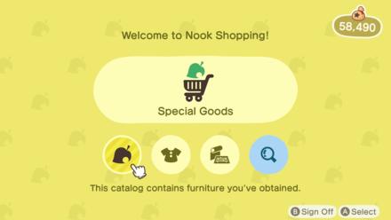 Nook Shopping