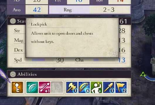 FE3H Lockpick Skill
