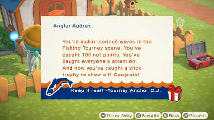ACNH - Bronze Fish Trophy Mail