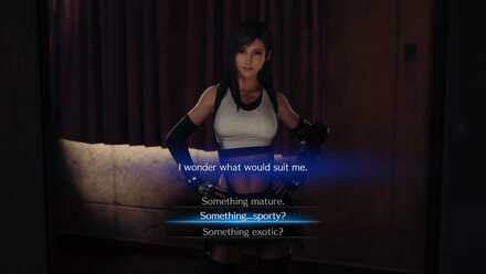 Tifa Dress Choice Dialogue