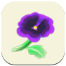 ACNH Purple Pansy Icon