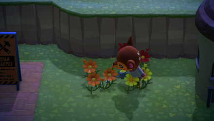 Villager watering flowers.jpg