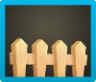 Simple Wooden Fence Icon