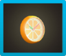 Orange Wall-Mounted Clock Icon