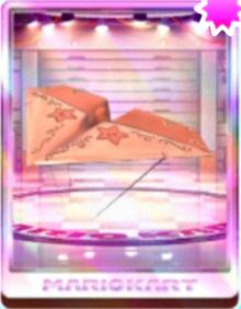 Pink Gold Paper Glider