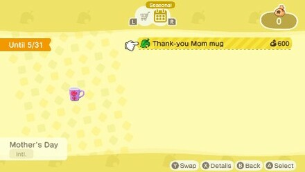 Thank-you Mom mug Nook Shopping
