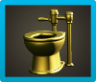 Golden Toilet Image