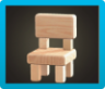 Wooden-Block Chair Icon