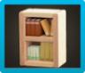 Wooden-Block Bookshelf Icon
