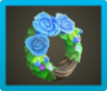 Blue Rose Wreath Image
