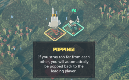 Popping in local multiplayer