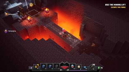 Fiery Forge Use the Mining Lift