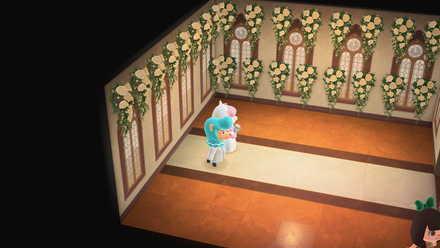 Wedding Decorations mounted on walls.jpg