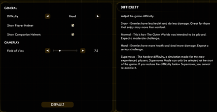 Difficulty Top_The Outer Worlds