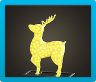 Illuminated Reindeer Icon