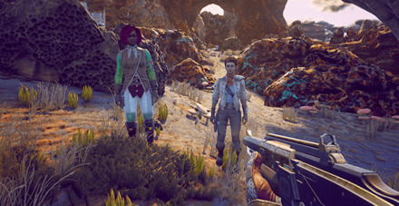 nyoka and ellie - companions_the outer worlds