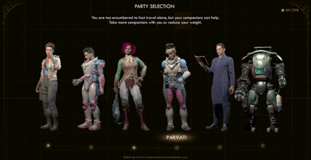 full party - companions_the outer worlds