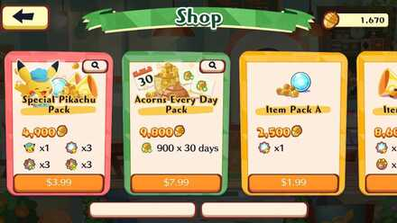 Buy Acorns with real money