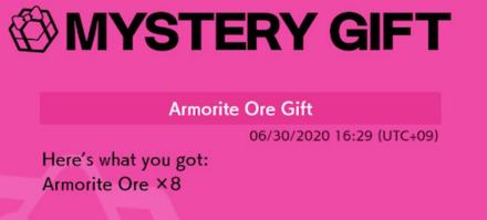 Armorite Ore Mystery Gift
