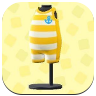 Yellow Horizontal-Striped Wet Suit.png
