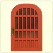 red latticework door.png