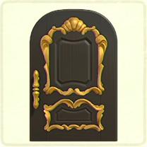 ACNH - black fancy door.png
