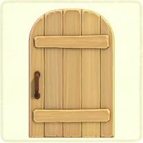 ACNH - normal rustic door