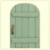 ACNH - light green rustic door