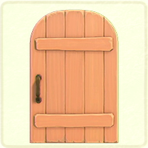 ACNH - pink rustic door