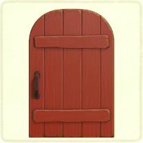 ACNH - red rustic door