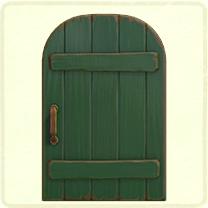 ACNH - green rustic door