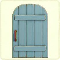 ACNH - blue rustic door