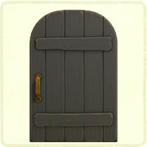 ACNH - black rustic door