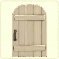 ACNH - white rustic door