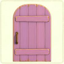 ACNH - pale-purple rustic door