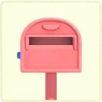 ACNH - pink ordinary mailbox