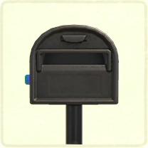 ACNH - black ordinary mailbox