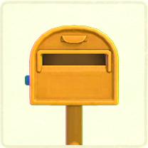 ACNH - yellow ordinary mailbox