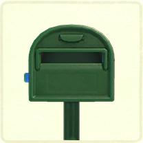 ACNH - green ordinary mailbox