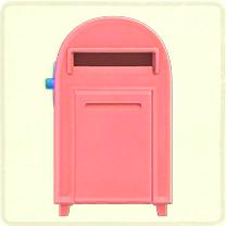 ACNH - pink large mailbox