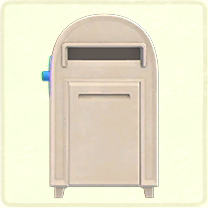 ACNH - white large mailbox