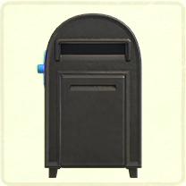 ACNH - black large mailbox.png