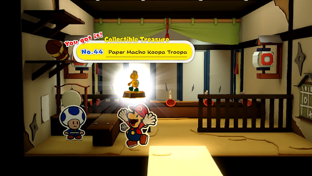 Collectible Treasure - No. 44 - Paper Macho Koopa Troopa.png