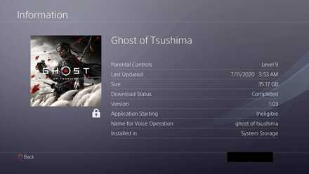 Ghost of Tsushima - Filesize