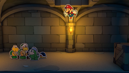 Mario Falling into Dungeon.png