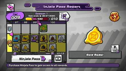 Tier Pass Gold Medal