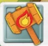 Fire Hammer Icon