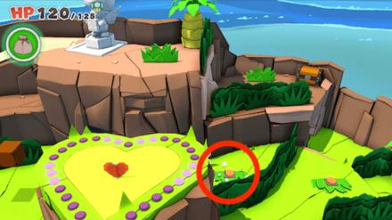 Heart Island - Switch behind the Heart Platform
