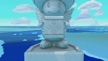 Spade Island - Toad Statue Inscription