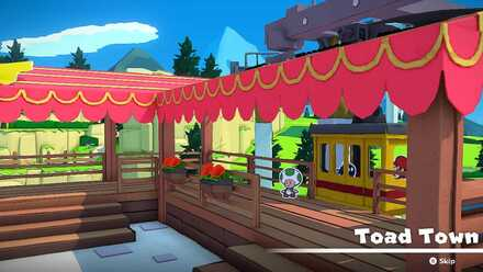 Toad Town Tram Station